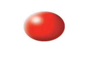332: luminous red silk - Aqua