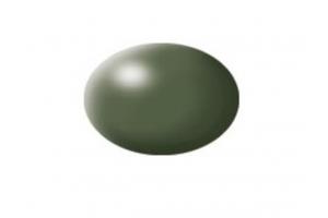 361: olive green silk - Aqua