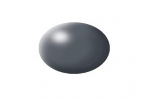 378: dark grey silk - Aqua