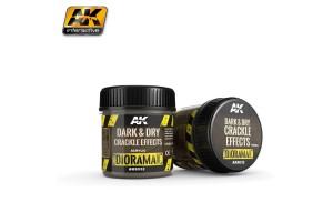 Dark & Dry Crackle Effects 100ml - AK8032