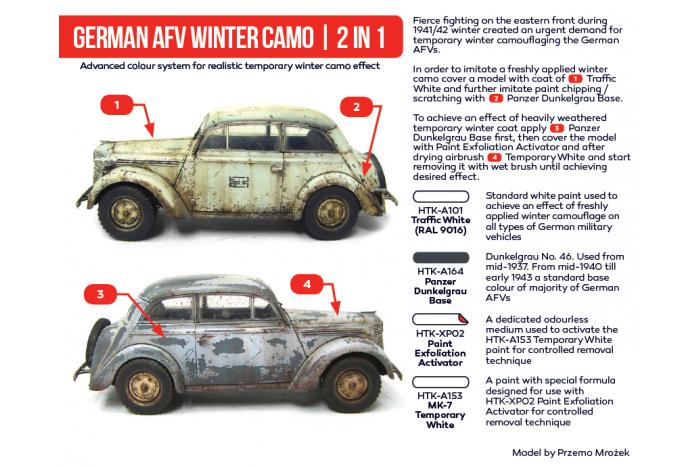 Hataka - German AFV Winter Camo 2 in 1 - AS38 - MJ Modely.cz