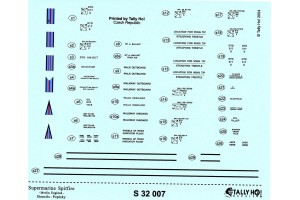 Stencils - S. Spitfire - Merlin engined (1:32) - S32007