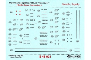 Stencils - Spitfire F Mk.IX early (1:48) - S48021