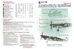 Decals - RAF Spitfires Mk.VIII, part 1 (1:48) - 48043