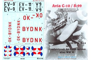 Decals - Avia S-99 / Me-109G - 10 (1:48) - 48030