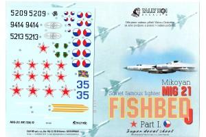 Decals - Mig-21 MF, SM, R (1:48) - 48020