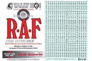 Decals - RAF Code letters (1:48) - 48011