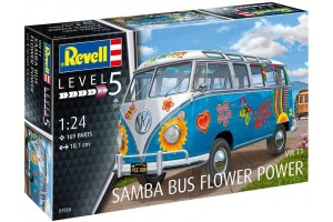 "VW T1 Samba Bus ""Flower Power"" (1:24) - 07050"