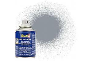 Barva Revell ve spreji - 34191: metalická ocelová (steel  metallic)