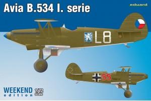 Avia B-534 I. série (1:72) - 7446