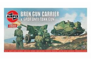 Bren Gun Carrier & 6 pdr Anti-Tank Gun (1:76) - A01309V