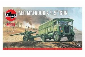"""AEC Matador & 5.5"""" Gun (1:76) - A01314V"""