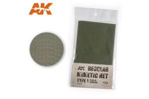 CAMOUFLAGE NET FIELD GREEN TYPE 2 - AK8066