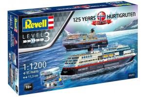 125 Years Hurtigruten TROLLFJORD & MIDNATSOL (1:1200) - 05692