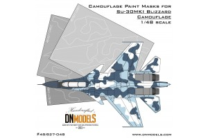 Mask set - Su-30MKI Blizzard Flanker (1:48) - 48/827-048
