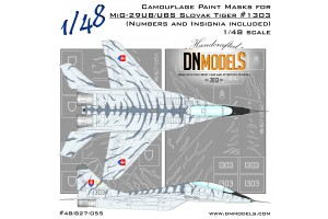 Mask set - Slovak Tiger Camo MiG-29UB/UBS Fulcrum-B (1:48) - 48/827-055