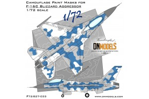 Mask set - F-16C Blizzard Aggressor  (1:72) - 72/827-033