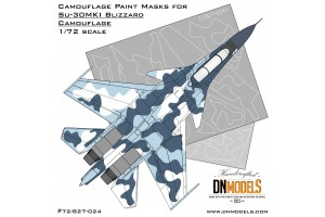 Mask set - Su-30MKI Blizzard Flanker (1:72) - 72/827-024