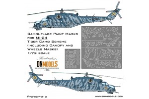 Mask set - Mil Mi-24 Tiger Camo (1:72) - 72/827-012