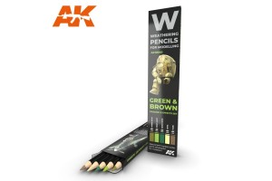 Green and brown: shading and effects set - AK10040