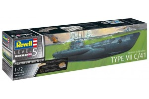 German Submarine Type VII C/41 (Platinum Edition) (1:72) - 05163