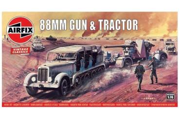 88mm Flak Gun & Tractor (1:76) - A02303V