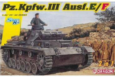 Model Kit tank 6944 - Pz.Kpfw.III Ausf.E/F (Smart kit) (2 in 1) (1:35)