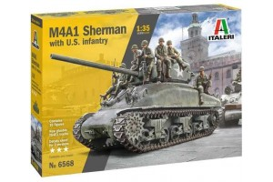 M4A1 Sherman with U.S. Infantry (1:35) - 6568