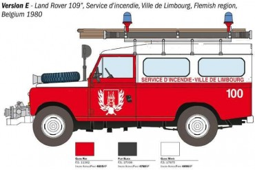 Model Kit auto 3660 - Land Rover Fire Truck (1:24)
