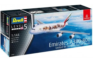 """Airbus A380-800 Emirates """"Wild Life"""" (1:144) - 03882"""
