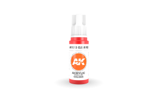 213: Clear Red (17ml) - acryl