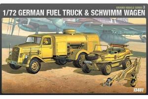 Model Kit military 13401 - GERMAN FUELTANK & SHIWIMM (1:72)