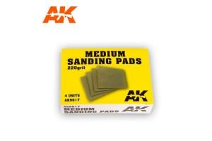 Medium Sanding Pads 4x220 grit - AK9017