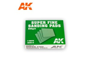 Super Fine Sanding Pads 4x800 grit - AK9019