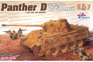 Sd.Kfz.171 Panther Ausf.D with Zimmerit (2 in 1) (1:35) - 6945