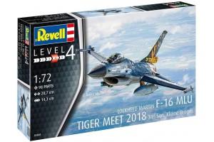 Plastic ModelKit letadlo 03860 - F-16 MLU TIGER MEET 2018 31 Sqn. Kleine Brogel  (1:72)