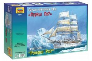 """Model Kit loď 9012 - Steam Bark """"Pourquoi Pas"""" (1:100)"""
