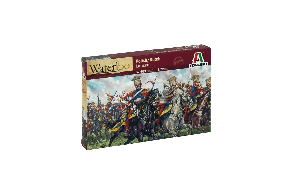 Napoleonic Wars  Italeri 1:72 model kit 6039 Polish Dutch Lancers