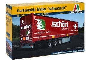 Model Kit návěs 3918 - Curtainside Trailer (1:24)