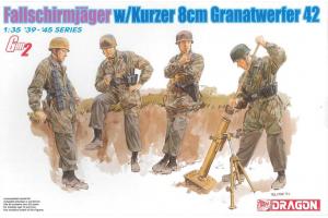 Model Kit figurky 6373 - FALLSCHIRMJÄGER w/Kurzer 8cm Granatwerfer 42 (1:35)