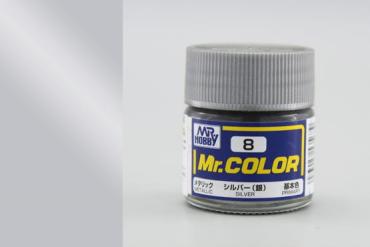 Mr. Color - C008: Stříbrná metalická (Silver Metalic)