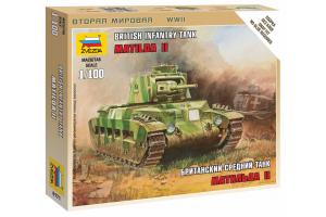 "Wargames (WWII) tank 6171 - British Tank ""Matilda II"" (1:100)"