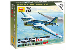 Wargames (WWII) letadlo 6185 - Soviet Bomber SB-2 (1:200)