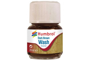 Humbrol barva email AV0205 - Wash - Dark Brown 28ml